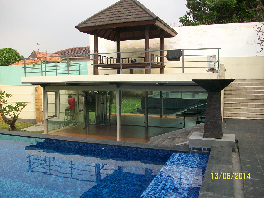 Big Houses With Pools For Sale rent house: modern minimalist house with big pool and backyard