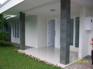 Rent House: White house with big pool and garden at cipete area